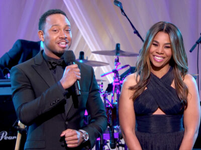 "Terrence J and Regina Hall during ""BET Presents: LOVE & HAPPINESS, AN OBAMA CELEBRATION"" at the White House on October 21, 2016 in Washington, DC. (Photo: BET)"