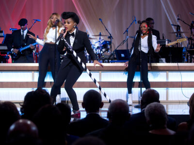 "Janelle Monáe performs during BET's ""Love and Happiness: A Musical Experience"" concert hosted by President Barack Obama and First Lady Michelle Obama on the South Lawn of the White House, Oct. 21, 2016. (Official White House Photo by Chuck Kennedy)